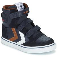 Schoenen Kinderen Hoge sneakers Hummel STADIL PRO JR Blauw / Brown
