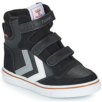 Schoenen Kinderen Hoge sneakers Hummel STADIL PRO JR Zwart / Grijs