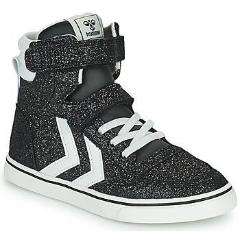 Schoenen Kinderen Hoge sneakers Hummel SLIMMER STADIL GLITTER JR Zilver