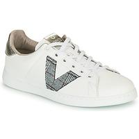 Schoenen Dames Lage sneakers Victoria TENIS PIEL VEGANA Wit / Grijs