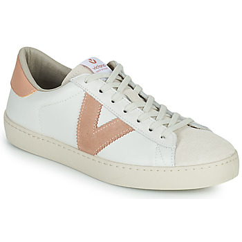 Schoenen Dames Lage sneakers Victoria BERLIN PIEL CONTRASTE Wit / Roze