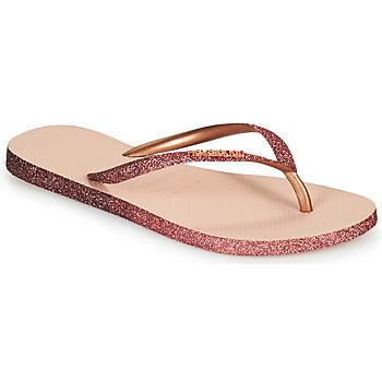 Schoenen Dames Slippers Havaianas SLIM SPARKLE II Roze