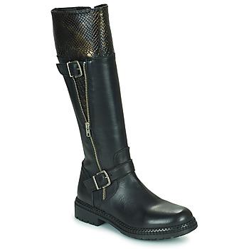 Schoenen Dames Hoge laarzen Regard CACHY Zwart