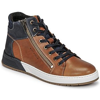Schoenen Jongens Lage sneakers Bullboxer AOF506COGN Brown / Marine