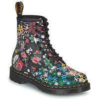 Schoenen Dames Laarzen Dr Martens 1460 PASCAL Zwart / Multicolour