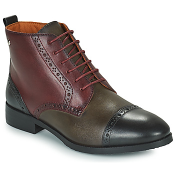 Schoenen Dames Laarzen Pikolinos ROYAL Bordeaux / Zwart / Brown