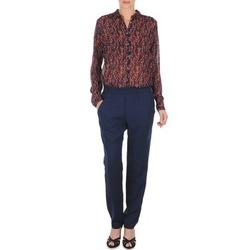 Textiel Dames Losse broeken / Harembroeken Marc O'Polo ALBA Blauw / Donker / Rood