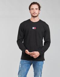 Textiel Heren T-shirts met lange mouwen Tommy Jeans TJM LS TOMMY BADGE TEE Zwart