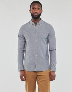 Textiel Heren Overhemden lange mouwen Tommy Jeans TJM STRETCH OXFORD SHIRT Zwart