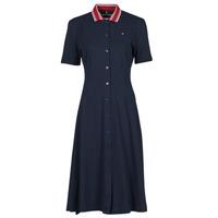 Textiel Dames Korte jurken Tommy Hilfiger PIQUE F&F MIDI POLO DRESS SS Marine