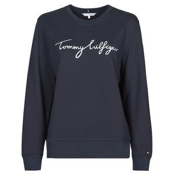 Textiel Dames Sweaters / Sweatshirts Tommy Hilfiger REGULAR GRAPHIC C-NK SWEATSHIRT Marine