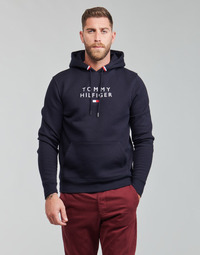 Textiel Heren Sweaters / Sweatshirts Tommy Hilfiger STACKED TOMMY FLAG HOODY Marine