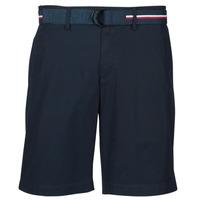 Textiel Heren Korte broeken / Bermuda's Tommy Hilfiger BROOKLYN LIGHT TWILL Marine