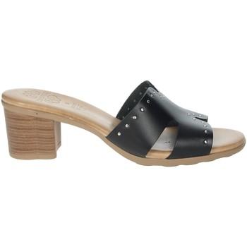 Schoenen Dames Leren slippers Porronet FI2625 Black