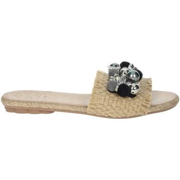Schoenen Dames Leren slippers Porronet FI2608 Beige/Black
