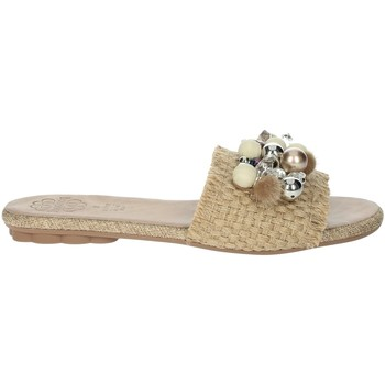 Schoenen Dames Leren slippers Porronet FI2608 Beige