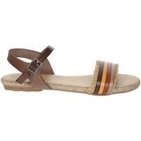 Schoenen Dames Sandalen / Open schoenen Porronet FI2605 Brown leather