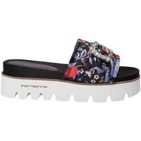 Schoenen Dames Leren slippers Fornarina PE18FE2901 Zwart