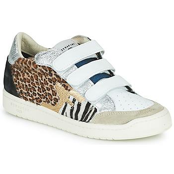 Schoenen Dames Lage sneakers Serafini SAN DIEGO Wit / Zilver / Leopard