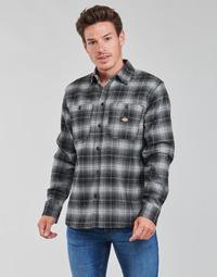 Textiel Heren Overhemden lange mouwen Dickies EVANSVILLE LS Zwart