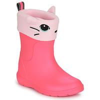 Schoenen Meisjes Regenlaarzen Isotoner 99314 Roze