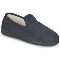 Schoenen Heren Sloffen Isotoner 98038 Grijs / Blauw