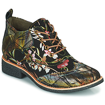 Schoenen Dames Laarzen Laura Vita COCRALIEO Zwart / Groen / Roze