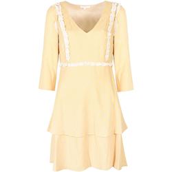 Textiel Dames Korte jurken Patrizia Pepe  Geel