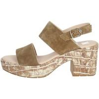 Schoenen Dames Sandalen / Open schoenen CallagHan 28801 Brown leather