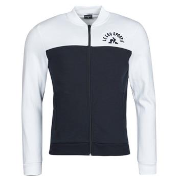 Textiel Heren Trainings jassen Le Coq Sportif SAISON 2 FZ SWEAT N 1 Marine / Wit