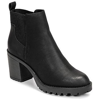 Schoenen Dames Enkellaarzen Only BARBARA HEELED BOOTIE Zwart