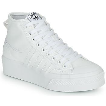 Schoenen Dames Hoge sneakers adidas Originals NIZZA PLATFORM MID Wit