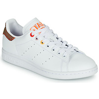 Schoenen Dames Lage sneakers adidas Originals STAN SMITH W Wit / Rayé / Rood