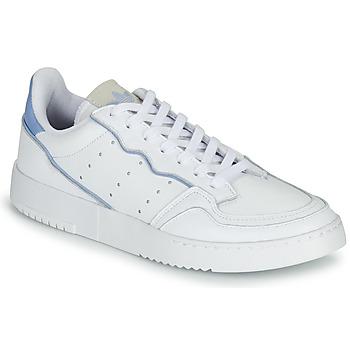 Schoenen Lage sneakers adidas Originals SUPERCOURT Wit / Blauw