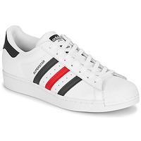 Schoenen Lage sneakers adidas Originals SUPERSTAR Wit / Blauw / Rood