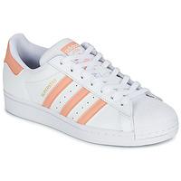 Schoenen Dames Lage sneakers adidas Originals SUPERSTAR Wit / Roze