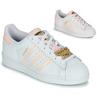 Schoenen Dames Lage sneakers adidas Originals SUPERSTAR W Wit / Roze