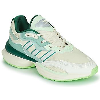 Schoenen Dames Lage sneakers adidas Originals OZIKENIEL Wit / Groen