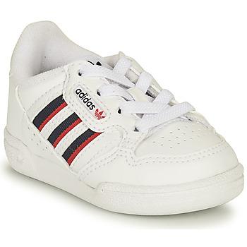 Schoenen Kinderen Lage sneakers adidas Originals CONTINENTAL 80 STRI I Wit