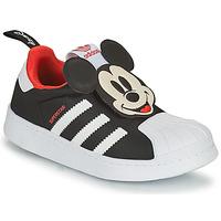Schoenen Jongens Lage sneakers adidas Originals SUPERSTAR 360 C Zwart / Mickey