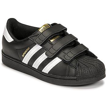 Schoenen Kinderen Lage sneakers adidas Originals SUPERSTAR CF C Zwart / Wit