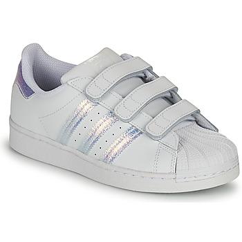 Schoenen Kinderen Lage sneakers adidas Originals SUPERSTAR CF C Wit / Zilver