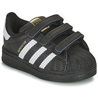 Schoenen Kinderen Lage sneakers adidas Originals SUPERSTAR CF I Zwart / Wit