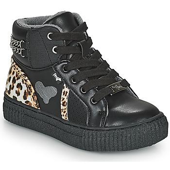 Schoenen Meisjes Hoge sneakers Primigi GIRL ALPHA Zwart / Leopard