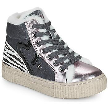 Schoenen Meisjes Hoge sneakers Primigi GIRL ALPHA Zilver
