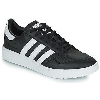 Schoenen Lage sneakers adidas Originals MODERN 80 EUR COURT Zwart / Wit