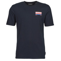Textiel Heren T-shirts korte mouwen Scotch & Soda GRAPHIC LOGO T-SHIRT Marine