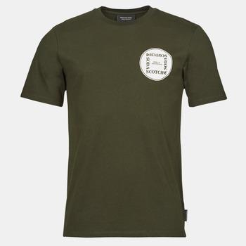 Textiel Heren T-shirts korte mouwen Scotch & Soda GRAPHIC LOGO T-SHIRT Kaki