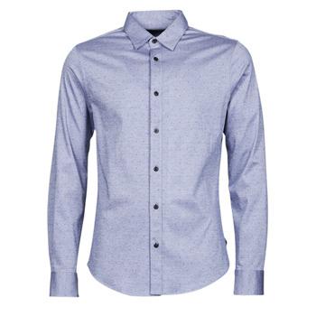 Textiel Heren Overhemden lange mouwen Scotch & Soda CLASSIC SLIM FIT KNITTED Blauw