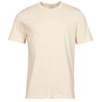 Textiel Heren T-shirts korte mouwen Scotch & Soda GRAPHIC LOGO Beige